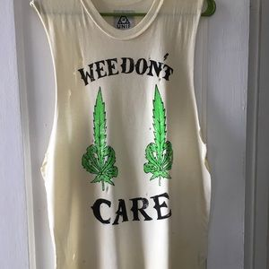 Rare UNIF Weedont care unisex muscle tank
